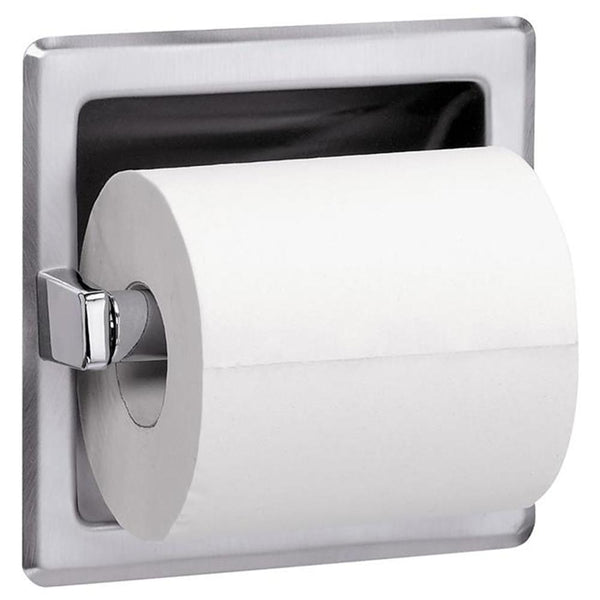 Bradley 5104-0000 Bradex Toilet Paper Dispenser Single Roll Recessed - Satin