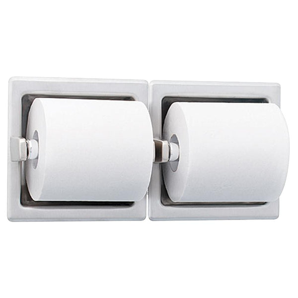 Bradley 5125-0000 Toilet Paper Dispenser Dual Roll Recessed - Bright Polish