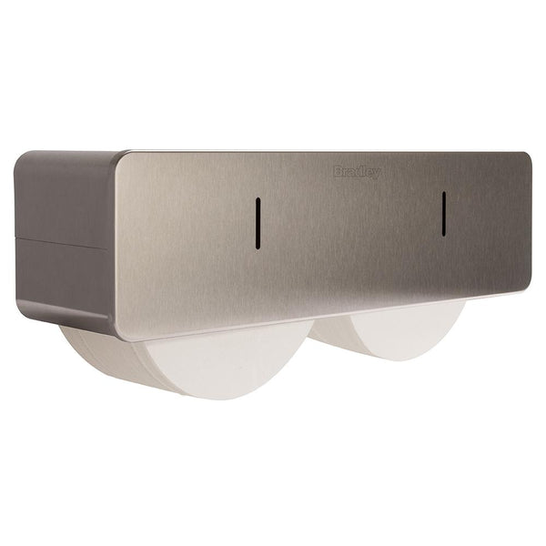 Bradley 5426-1100 Bradex Toilet Paper Dispenser Coreless Dual Roll Surface Mounted - Satin - Prestige Distribution