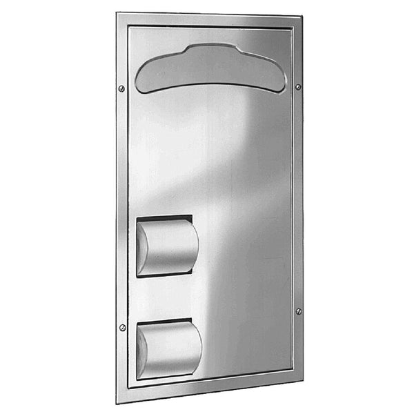 Bradley 5921-6900 Toilet Paper & Seat Cover Dispenser Partition Mounted - Satin
