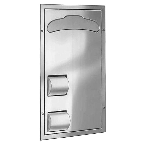 Bradley 5922-6900 Bradex Toilet Paper & Seat Cover Dispenser Recessed - Satin
