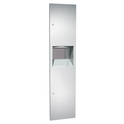 ASI 64676-2 Simplicity Paper Towel Dispenser & Removable Waste Receptacle Semi-Recessed - Satin