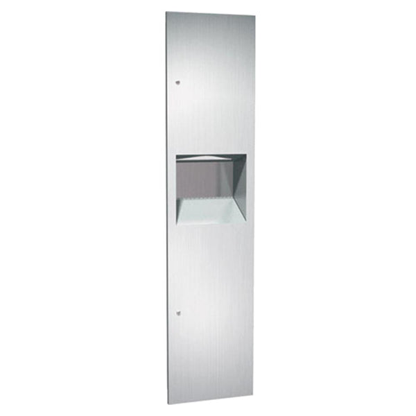 ASI 64676-2 Simplicity Paper Towel Dispenser & Removable Waste Receptacle Semi-Recessed - Satin - Prestige Distribution