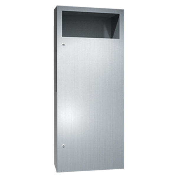 ASI 6474-2 Simplicity Waste Receptacle 12 Gal. Semi-Recessed - Satin - Prestige Distribution