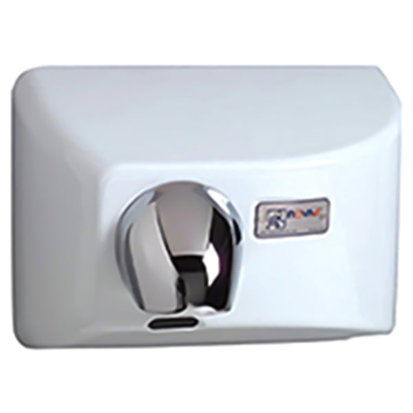 World Dryer 71200000 NOVA 4 Automatic Hand Dryer Cast Iron Recessed - White