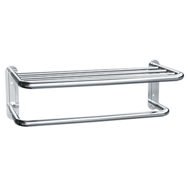 ASI 7311 Towel Shelf w/ Drying Rod Surface Mounted Bright