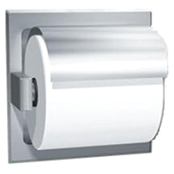 ASI 7402-H Toilet Paper Holder Single Hooded Wet Wall Lugs Recessed