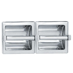 ASI 74022 Toilet Paper Holder Double Wet Wall Lugs Recessed