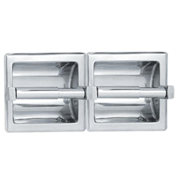 ASI 74022 Toilet Paper Holder Double Dry Wall Holes Recessed
