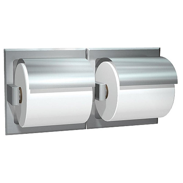 ASI 74022-H Toilet Paper Holder Double Hooded Dry Wall Holes Recessed - Prestige Distribution