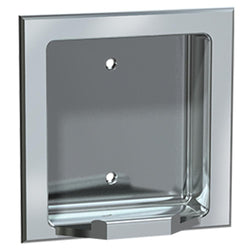 ASI 7404 Soap Dish Stainless Steel Dry Wall Holes Recessed