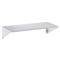 Bradley 755 Shelf w/ Integral End Bracket Surface Mounted - Satin