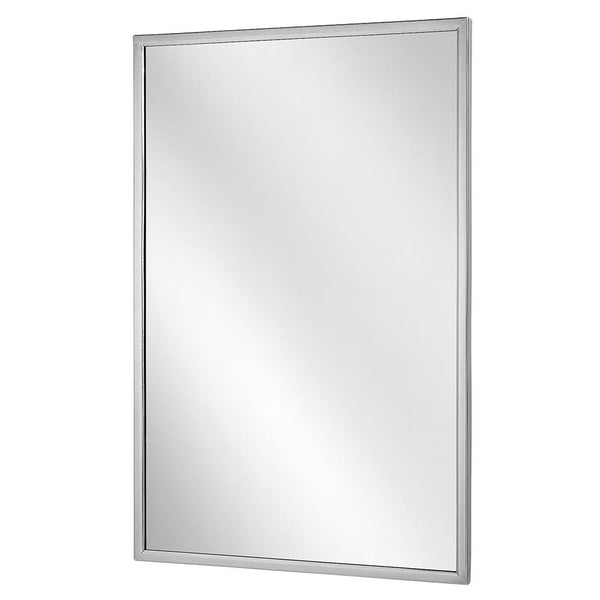 Bradley 780 Bradex Mirror Angle Framed Surface Mounted Tempered Glass - Satin