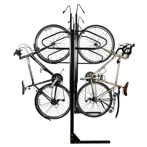 Bike Fixation 804 Vertical Rack 8 Bike Double Sided - Powder Coat
