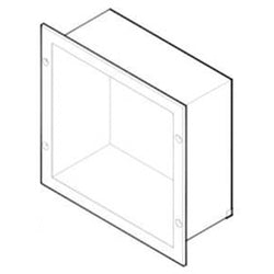 ASI 8155 Extension Sleeve & Flange for Specimen Pass-Thru Cabinet Recessed - Satin