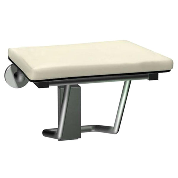 ASI 8204 Shower Seat Folding Compact Padded Rectangular Surface Mounted - Satin - Prestige Distribution