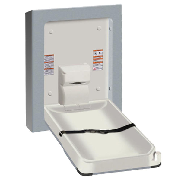 ASI 9017-9 Baby Changing Station Vertical Stainless Steel Surface Mounted - Satin - Prestige Distribution