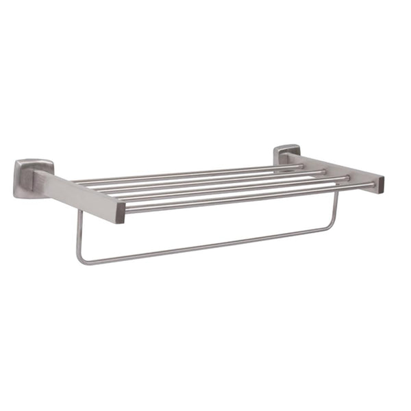 Bradley 9105 Towel Shelf w/ Towel Bar Surface Mounted - Satin