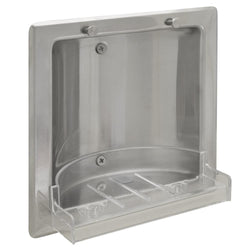 Bradley Soap Dish Recessed Stainless Steel Removable Plastic Tray