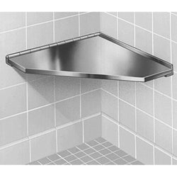 "Bradley Shower Seat Fixed Corner 15-7/8"" x 15-7/8"" x 3/4"" Satin Stainless Steel"