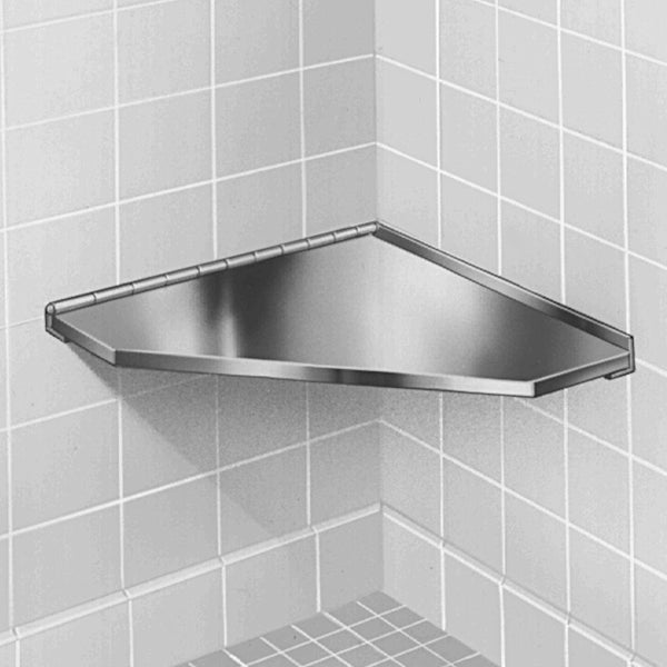 Bradley 954-000 Shower Seat Hinged Corner Stainless Steel - Satin - Prestige Distribution