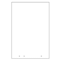 "Gemini APG2436-SQ-25 Panel Guard 1/4"" Acrylic 24"" x 36"" Square"