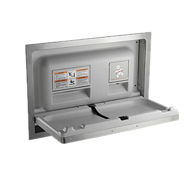 ASI 9013 Baby Changing Station Horizontal Stainless Steel Recessed - Satin - Prestige Distribution