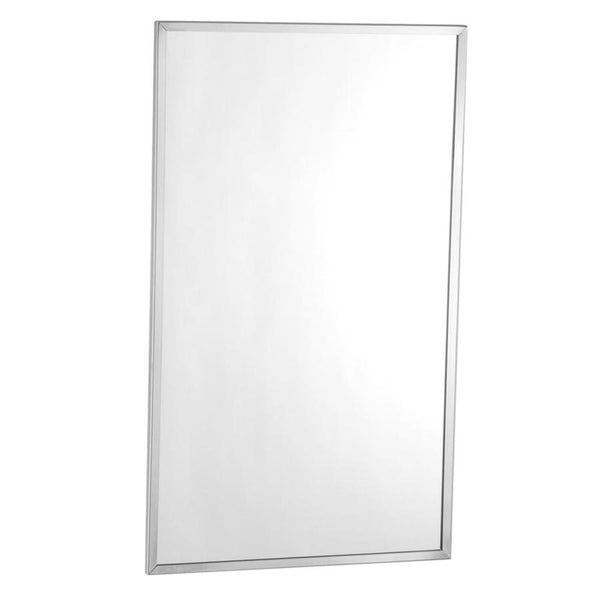 Bobrick B165 24 Mirror Channel Framed Surface Mounted - Bright Polished