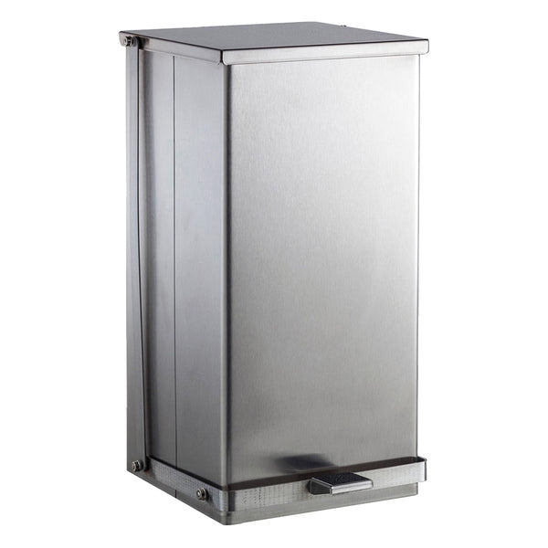Bobrick B221216 Waste Receptacle Foot Operated 12 Gal. - Satin