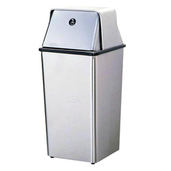 Bobrick B2250 Waste Receptacle w/ Top 13 Gal. Freestanding - Satin