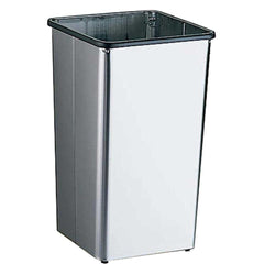 Bobrick B2260 Waste Receptacle Open Top 13 Gal. Freestanding - Satin