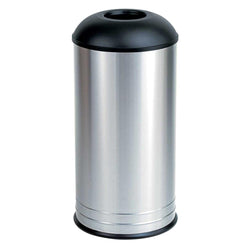 Bobrick B2300 Waste Receptacle w/ Dome-Top 18 Gal. Freestanding - Satin