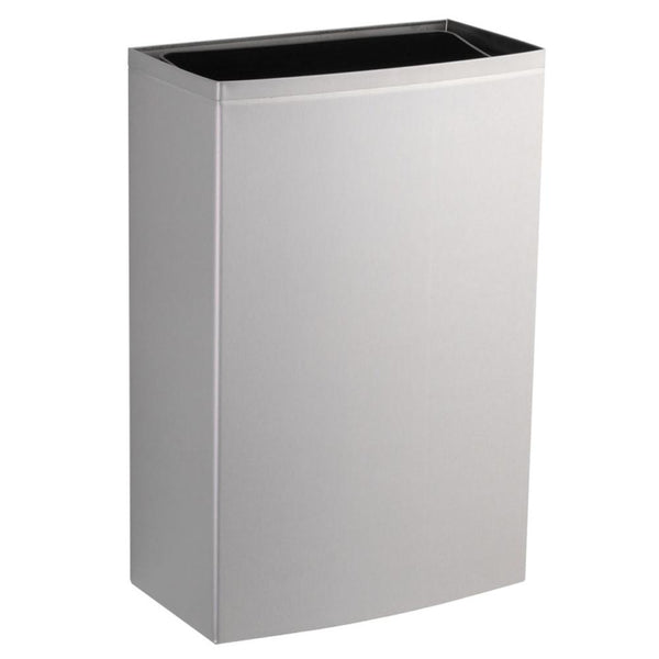 Bobrick B277 ConturaSeries Waste Receptacle w/ LinerMate 12.75 Gal. Surface Mounted - Satin