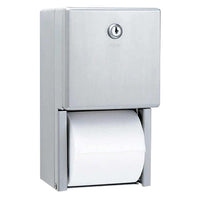Bobrick B2888 ClassicSeries Toilet Paper Dispenser Multi-Roll Surface Mounted - Satin