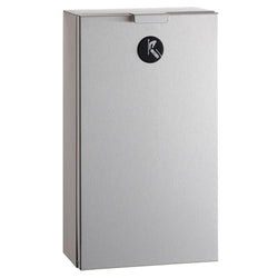 Bobrick B35139 TrimLineSeries Sanitary Napkin Disposal 1 Gal. Surface Mounted - Satin
