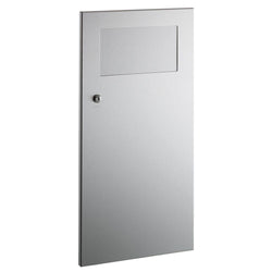 Bobrick B35633 TrimLineSeries Waste Receptacle w/ Disposal Door 3 Gal. Recessed - Satin