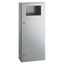 Bobrick B35649 TrimLineSeries Waste Receptacle 12 Gal. Surface Mounted - Satin