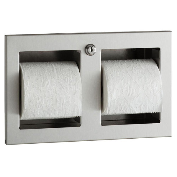 Bobrick B35883 TrimLineSeries Toilet Paper Dispenser Multi-Roll Recessed - Satin