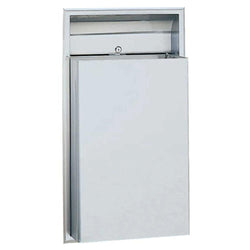 Bobrick B3644 ClassicSeries Waste Receptacle 12 Gal. Recessed - Satin