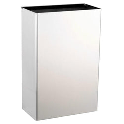 Bobrick B367-60 ClassicSeries Waste Receptacle Interchangeable 12 Gal. Recessed - Satin