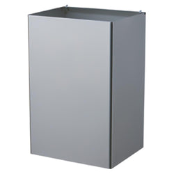 Bobrick B368-60 ClassicSeries Waste Receptacle Interchangeable 18 Gal. Recessed - Satin