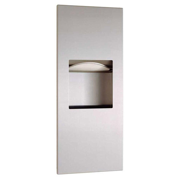 Bobrick B36903 TrimLineSeries Paper Towel Dispenser & Waste Receptacle Recessed - Satin