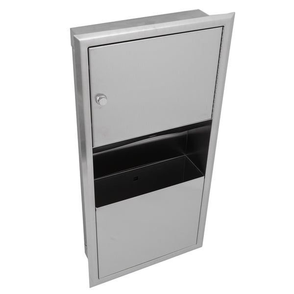 Bobrick B369 ClassicSeries Paper Towel Dispenser & Waste Receptacle Recessed - Satin