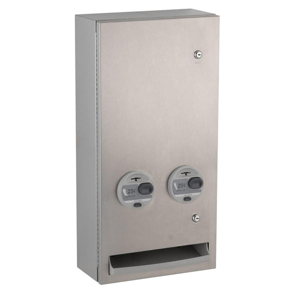 Bobrick B370639 TrimLineSeries Sanitary Napkin & Tampon Dispenser Surface Mounted - Satin