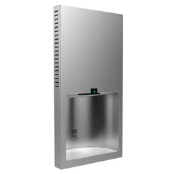 Bobrick B3725 230V TrimLineSeries Automatic Hand Dryer Stainless Steel Recessed - Silver