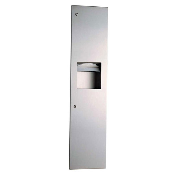 Bobrick B3803 TrimLineSeries Paper Towel Dispenser & Waste Receptacle Recessed - Satin