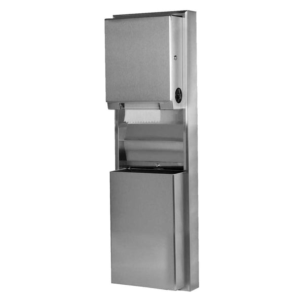 Bobrick B39619 ClassicSeries Convertible Paper Towel Dispenser & Waste Receptacle Surface Mounted