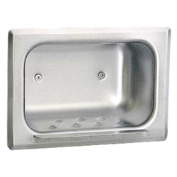 Bobrick B4380 Soap Dish Stainless Steel Recessed - Matte Polished
