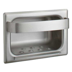 Bobrick B4390 Soap Dish w/ Bar Stainless Steel Recessed - Matte Polished