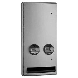 Bobrick B47064 ConturaSeries Sanitary Napkin & Tampon Dispenser Semi-Recessed - Satin